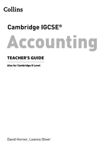 IGCSE Accounting Teacher S Guide Preview By Collins Issuu