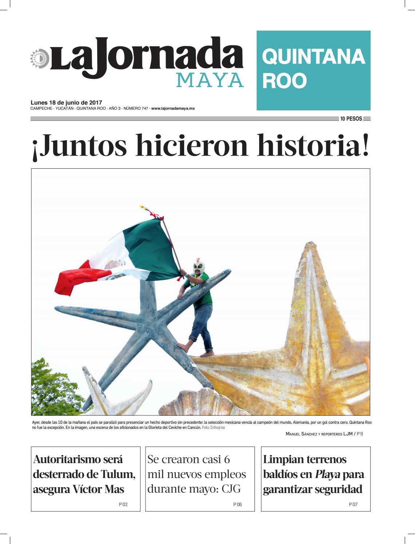 La jornada maya · lunes 18 de junio de 2018 by La Jornada Maya - issuu 4d619aad14e8c