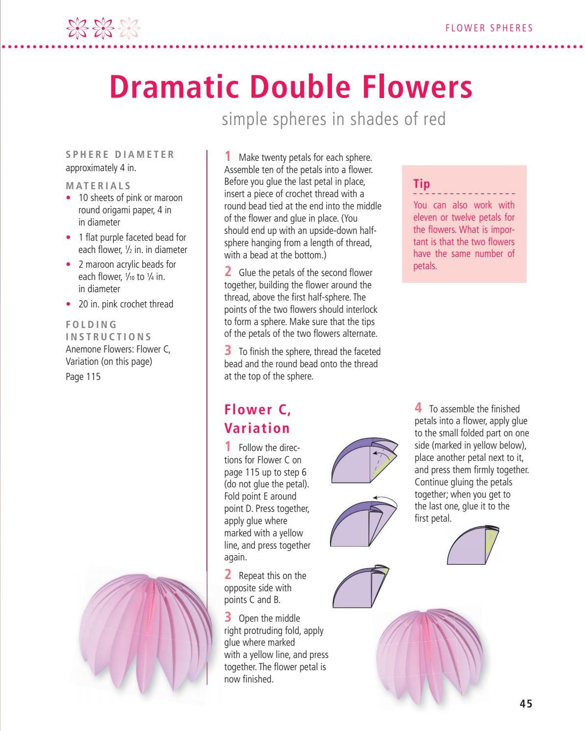 Floragami Create Beautiful Flowers From Folded Paper By Rhonda