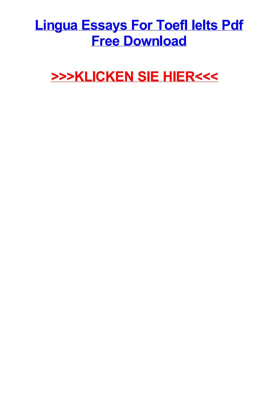 Ielts lingua toefl pdf for essays