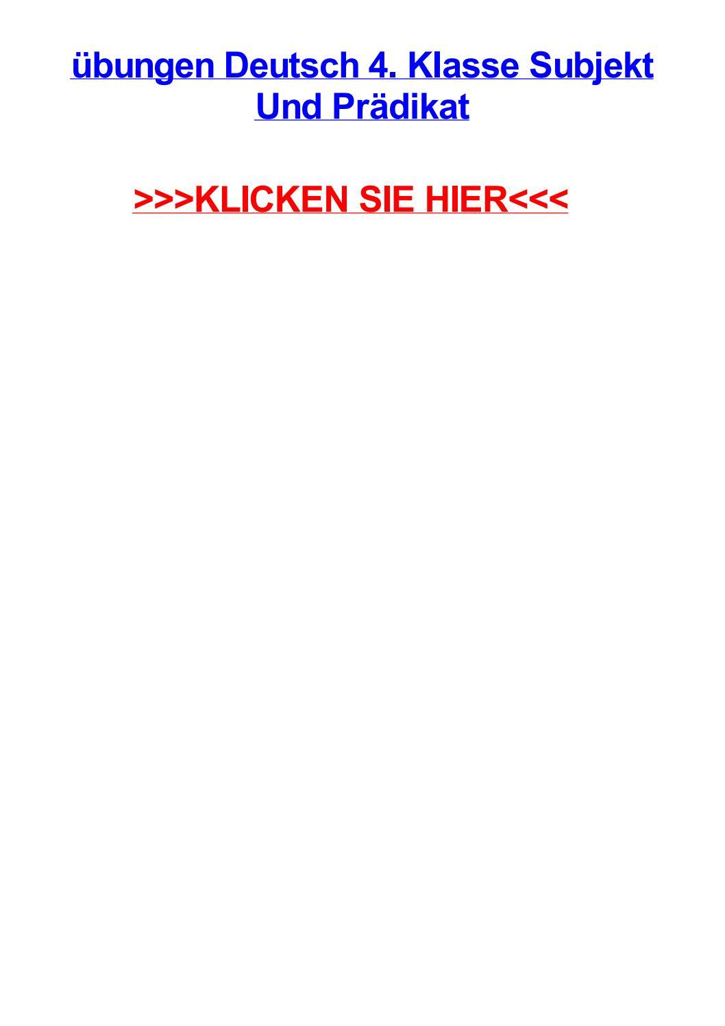 Jbungen deutsch 4 klasse subjekt und prdikat by monicailmtm - issuu