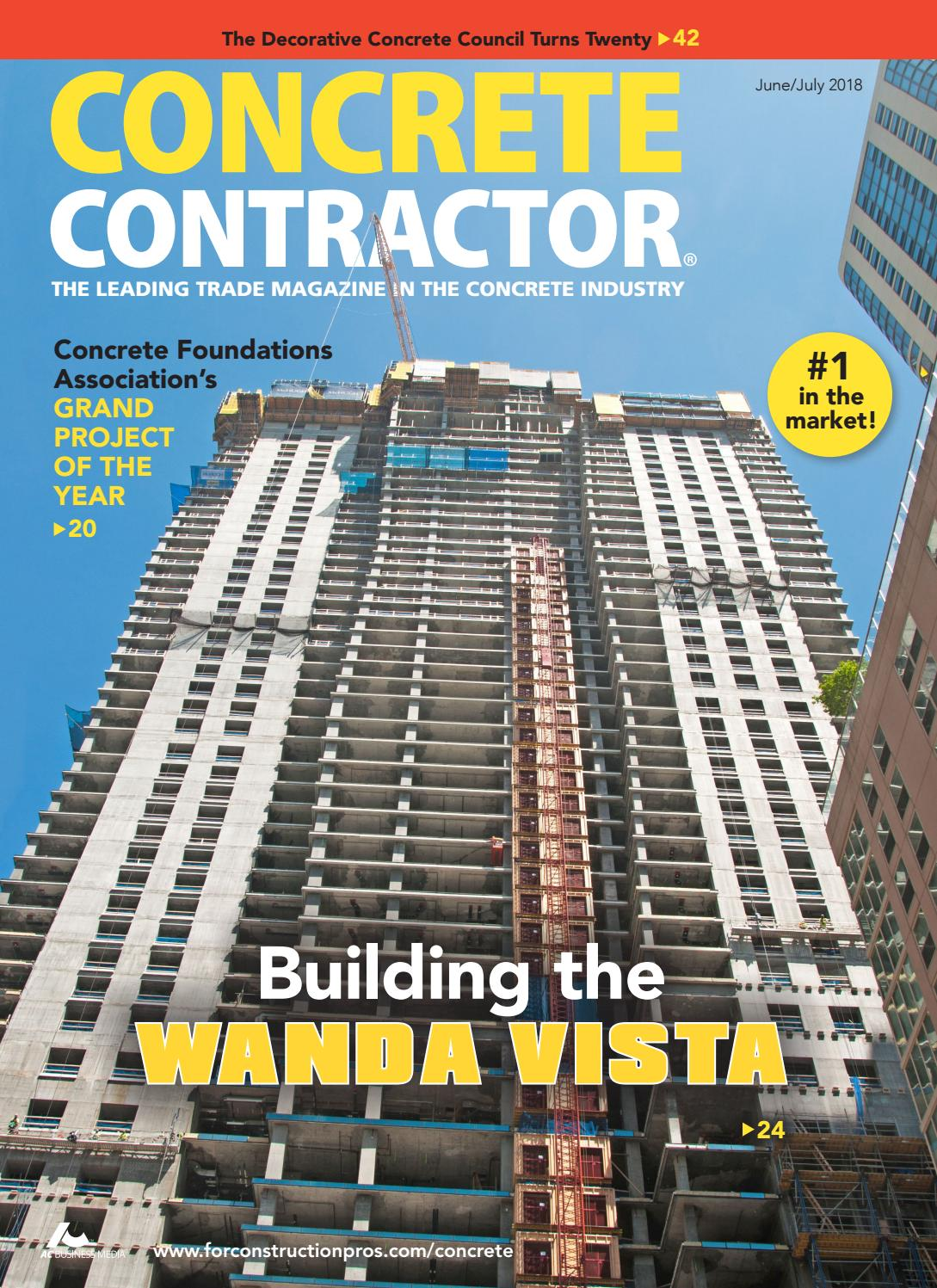 Concrete Contractor June/July 2018 by ForConstructionPros