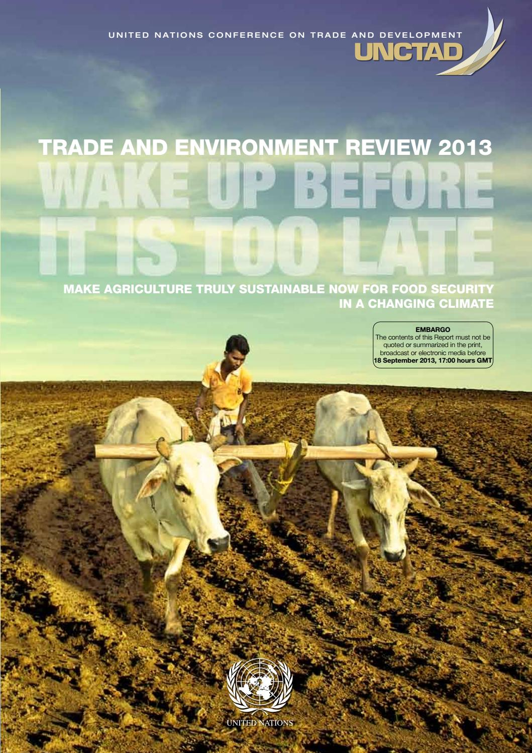 Unctad trand and environment review 2013 by funverde - issuu