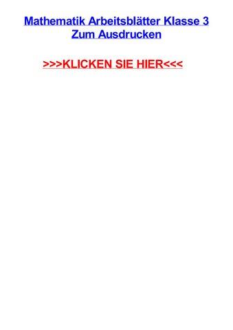 Mathematik arbeitsbltter klasse 3 zum ausdrucken by vincentfzyf - issuu