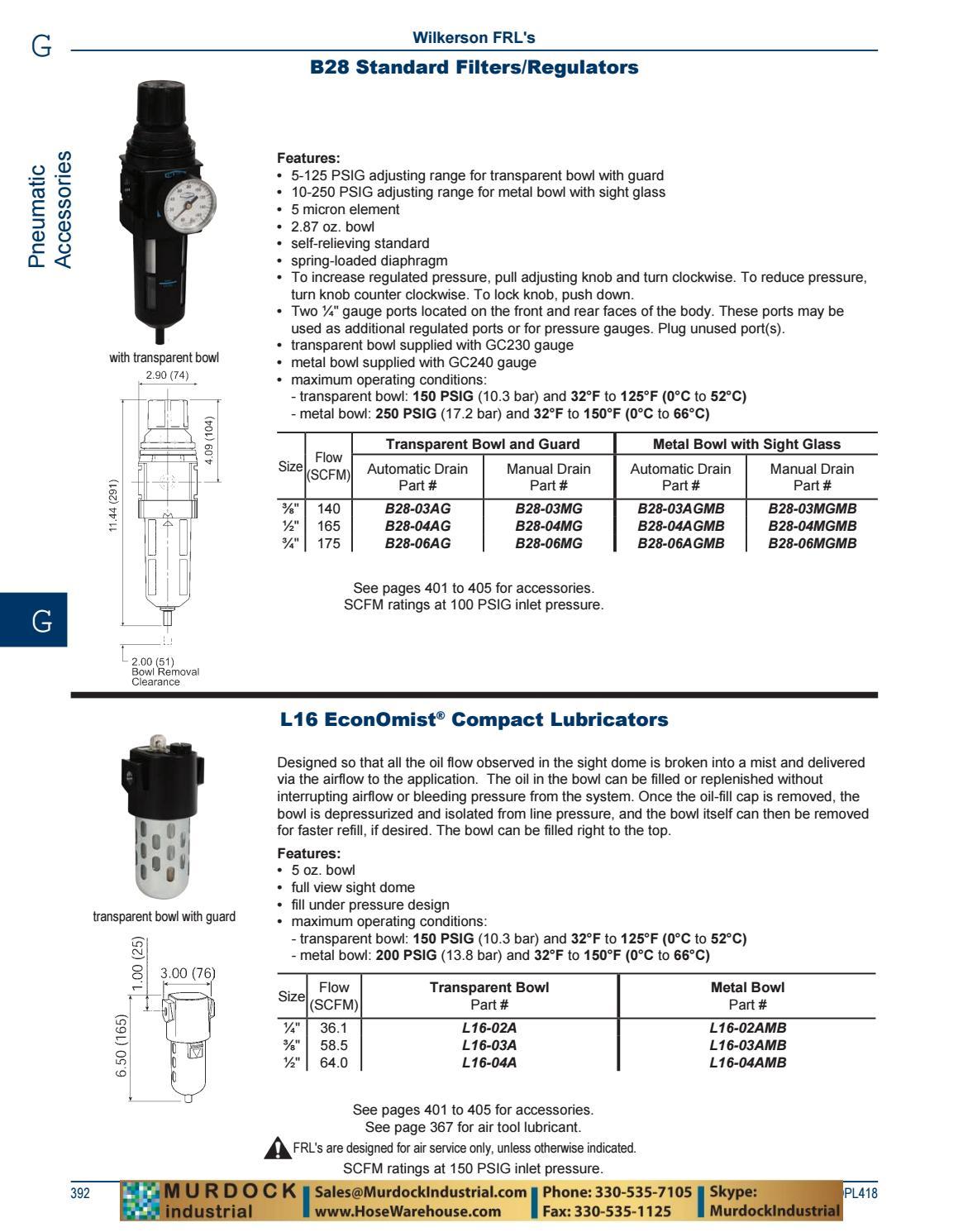 3//4 Size 150 psig Pressure 3//4 Size Dixon Valve /& Coupling Dixon B28-06MG Manual Drain Wilkerson Standard Filter//Regulator with Transparent Bowl and Guard 175 SCFM Flow