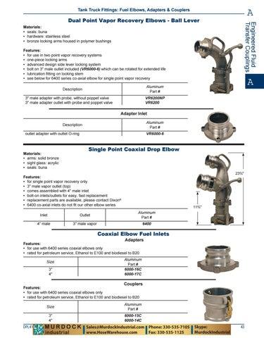 Petroleum Dixon 6000-16C Alum Co-Axial Adapter Fuel Inlet for 6400 Elbows 3