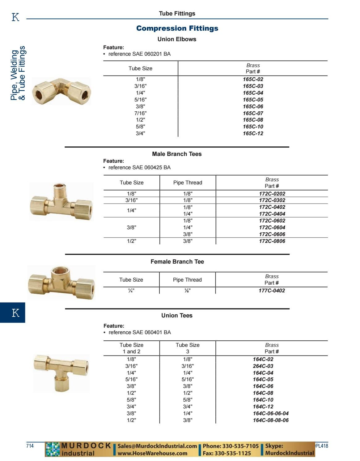 Dixon 3//16 Brass Union Elbow Compression Fitting 165C-03