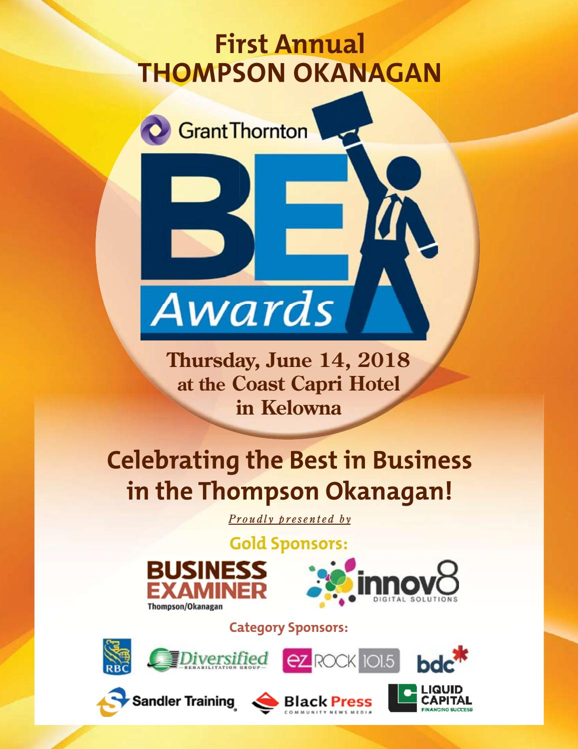 b3ff89656eb 2018 Thompson Okanagan Business Excellence Awards Program by Business  Examiner Media Group - issuu