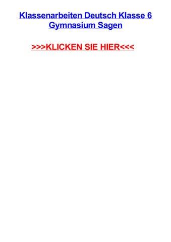 Klassenarbeiten Deutsch Klasse 6 Gymnasium Sagen By
