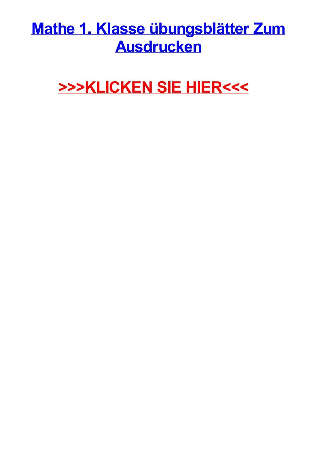 Mathe 1 klasse jbungsbltter zum ausdrucken by angelicadmzpw - issuu