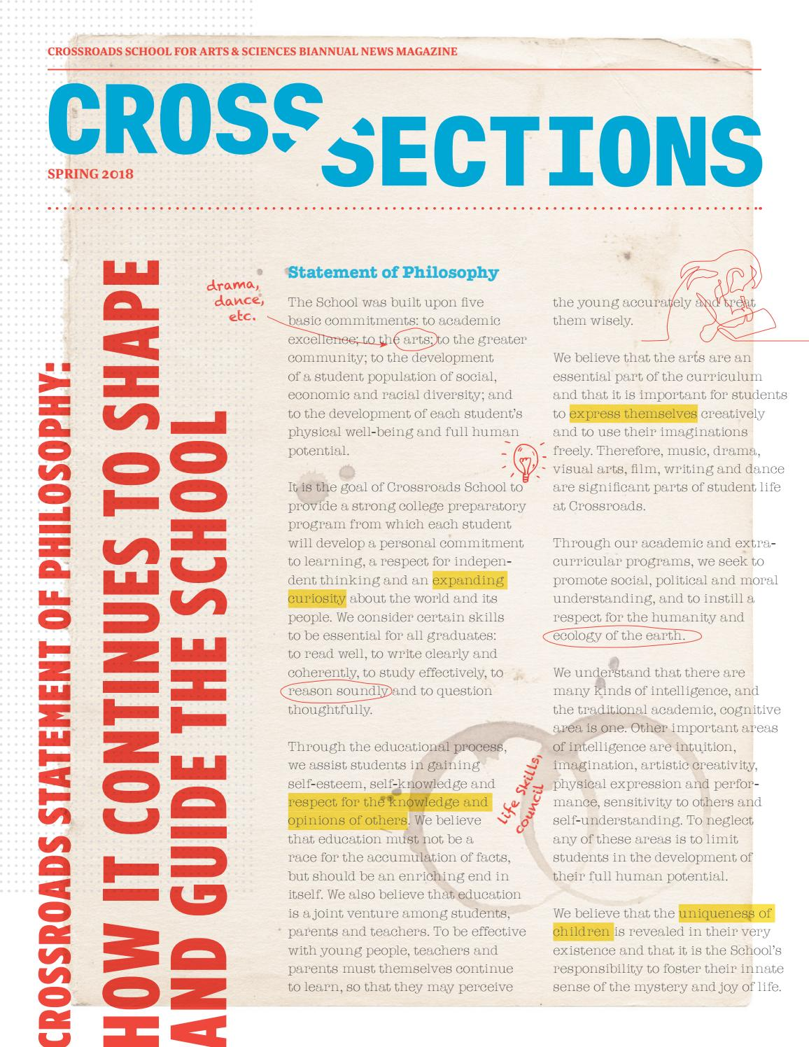 Cross Sections (Spring 2018) by Crossroads School for Arts
