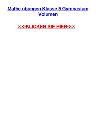 Mathe jbungen klasse 5 gymnasium volumen by jerrytiuuq - issuu