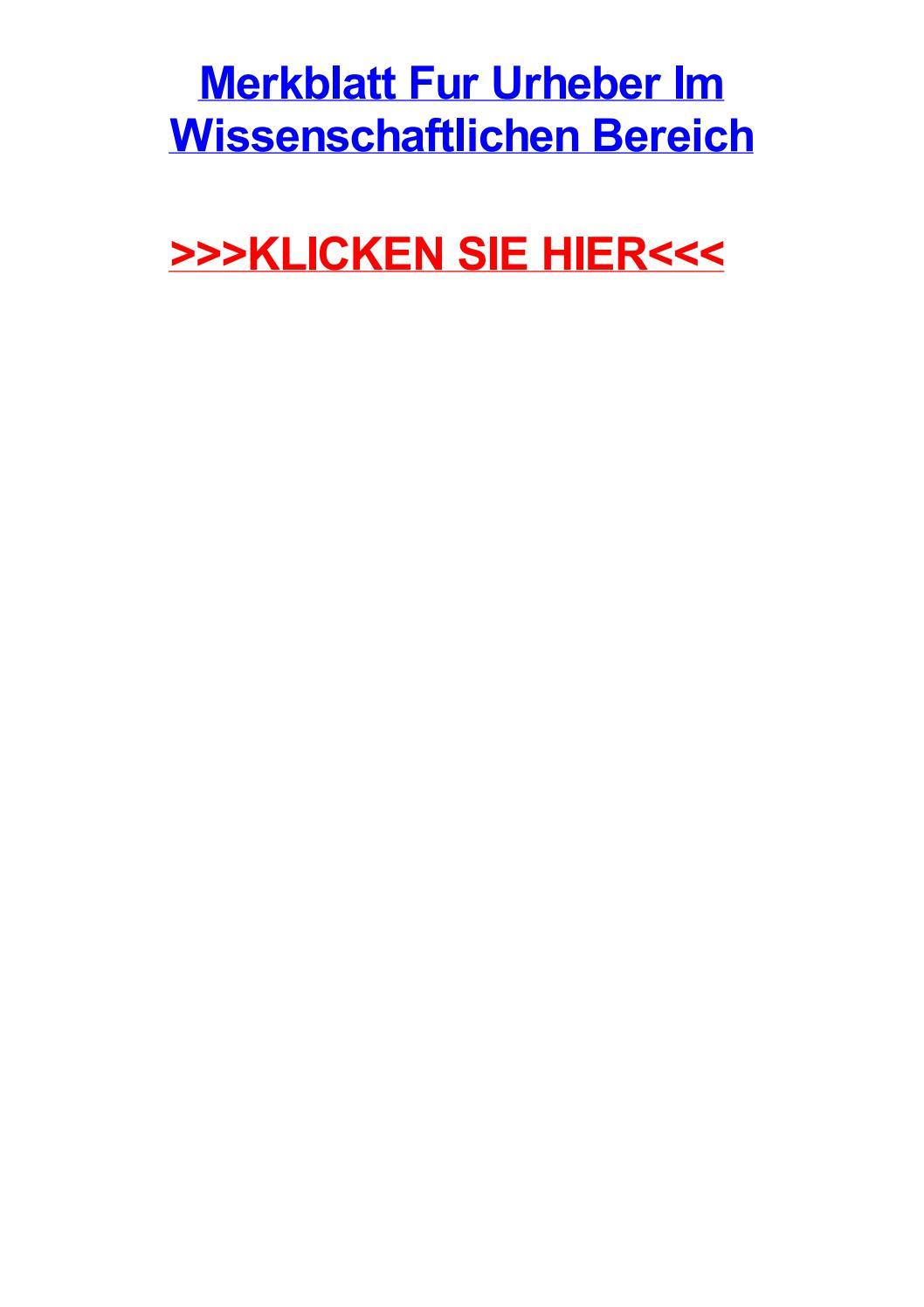 Merkblatt fur urheber im wissenschaftlichen bereich by ginaklgyv - issuu
