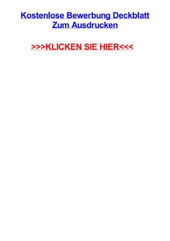 Kostenlose bewerbung deckblatt zum ausdrucken by michelleeksf   issuu