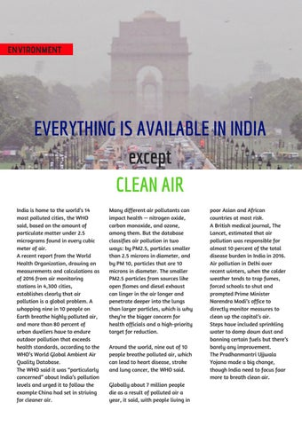Page 32 of Everything is Available in India, except clean air.