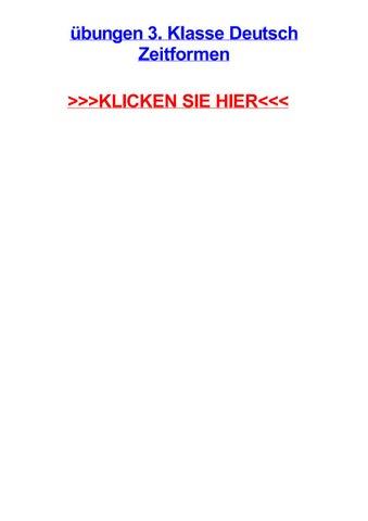 Jbungen 3 Klasse Deutsch Zeitformen By Philenoyw Issuu