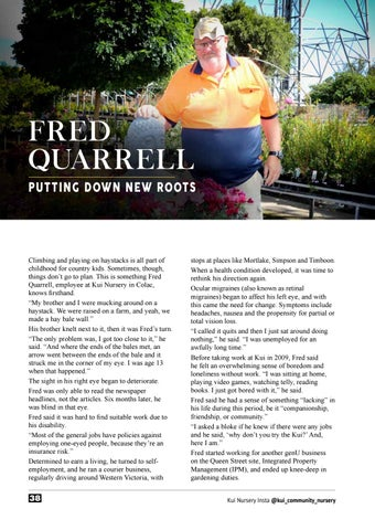 Page 38 of Fred Quarrell: Putting Down New Roots