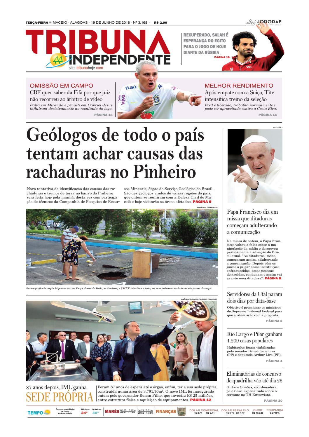 bddc7e823 Edição número 3168 – 19 de junho de 2018 by Tribuna Hoje - issuu