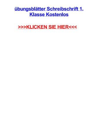 Jbungsbltter Schreibschrift 1 Klasse Kostenlos By Derekbtchv