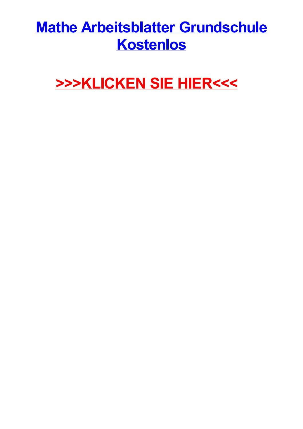 Mathe arbeitsblatter grundschule kostenlos by lisapjacf - issuu