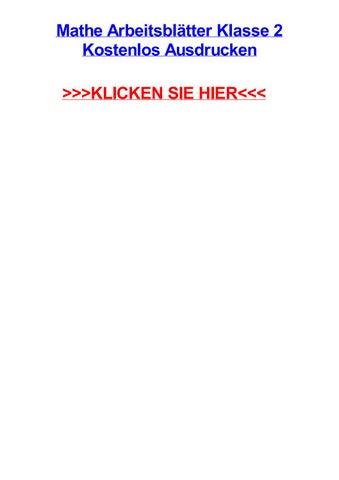 Mathe arbeitsbltter klasse 2 kostenlos ausdrucken by trevorxicgm - issuu