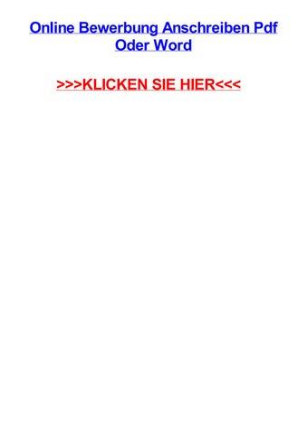 Online Bewerbung Anschreiben Pdf Oder Word By Robertnecjz Issuu