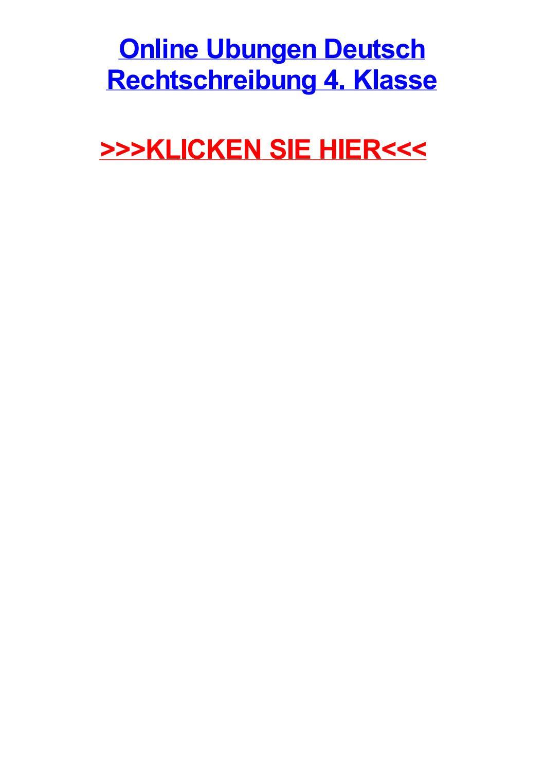 Online ubungen deutsch rechtschreibung 4 klasse by paulnfnm - issuu