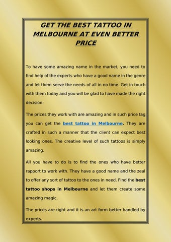 Get the best tattoo in melbourne at even better price by Pure Vision ...