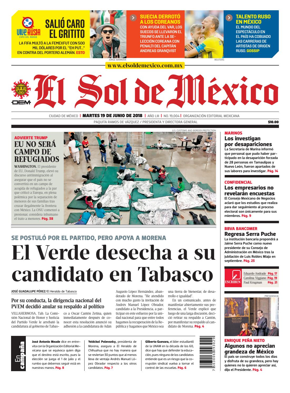 El Sol de México 19 de junio del 2018 by El Sol de México - issuu e8db43180be
