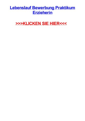 Lebenslauf bewerbung praktikum erzieherin by coryrfkqe - issuu