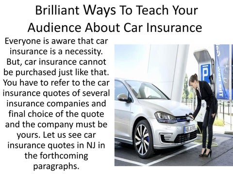 Car Insurance Quotes Nj | Car Insurance In Nj By Justine Henderson Issuu