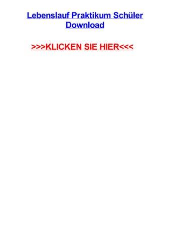 Lebenslauf praktikum schjler download by andyugar - issuu