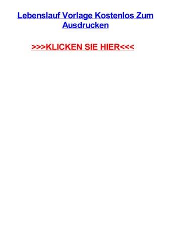 Lebenslauf vorlage kostenlos zum ausdrucken by beigfcr - issuu