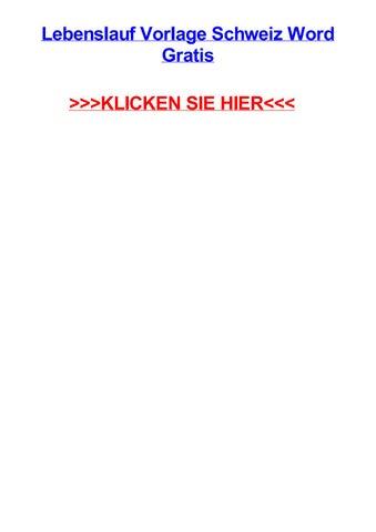 Lebenslauf Vorlage Schweiz Word Gratis By Scottnoqx Issuu
