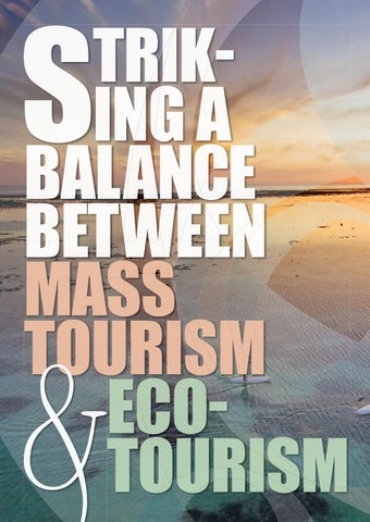 Page 6 of Striking a balance between Mass Tourism & Ecotourism