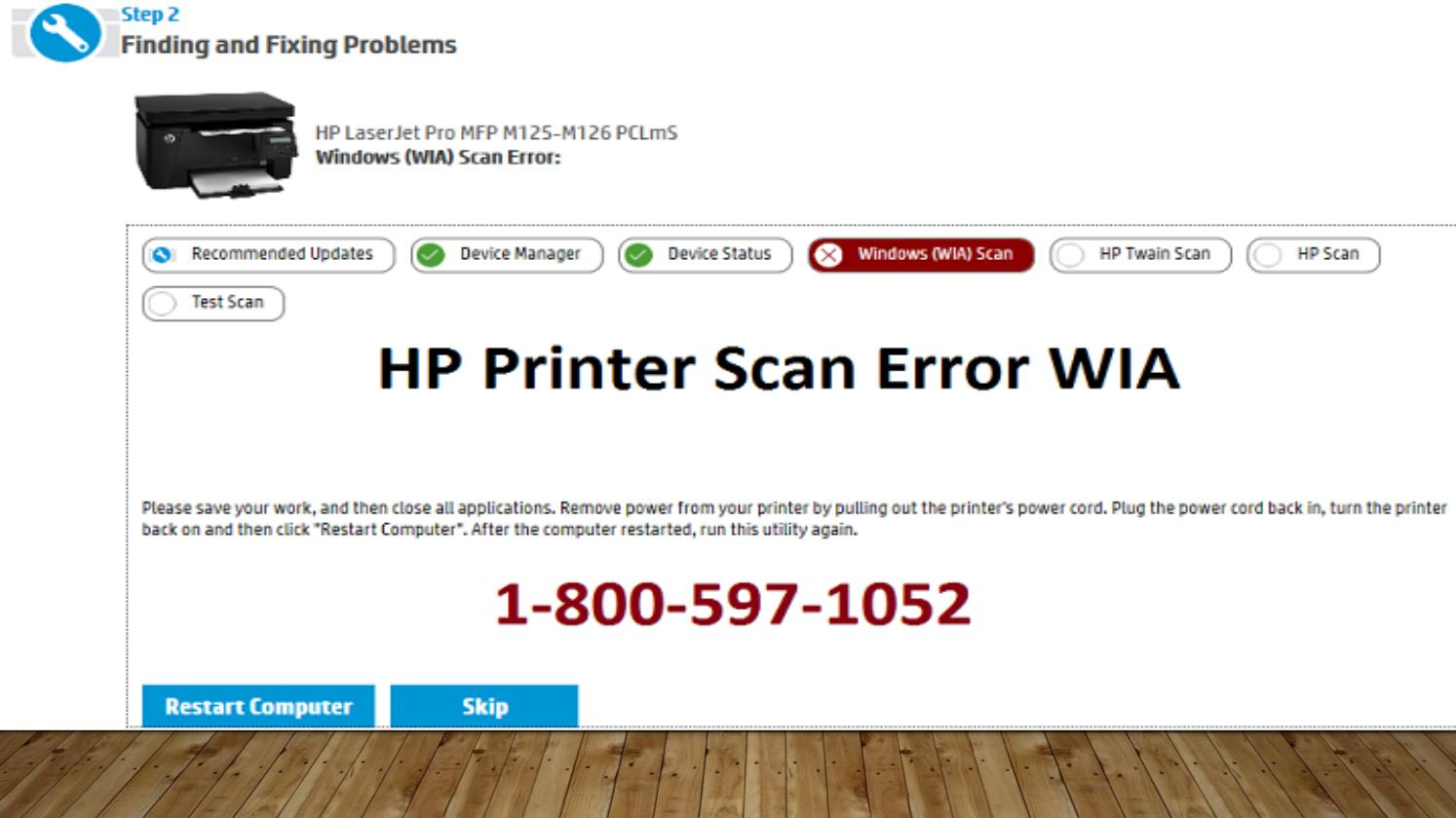 How To Fix HP Printer Scan Error WIA? 1-800-597-1052 by