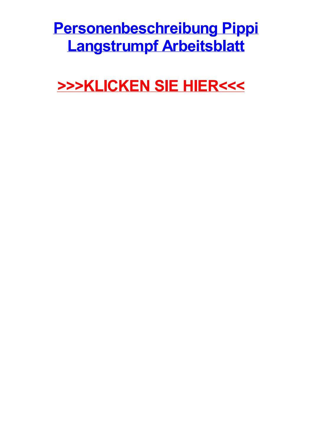 personenbeschreibung pippi langstrumpf arbeitsblatt by