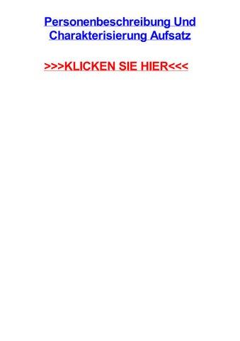 Personenbeschreibung und charakterisierung aufsatz by williamdubu ...