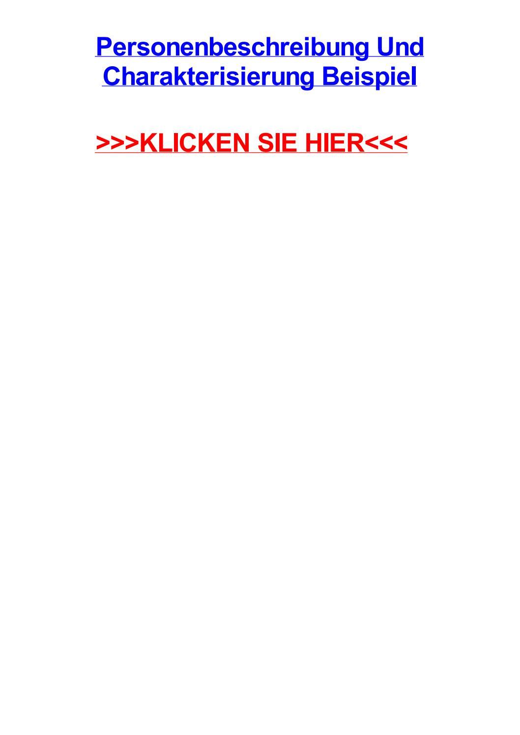 Deutsch Arbeitsmaterialien Person Charakterisierung 13