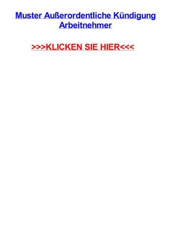 Muster Auerordentliche Kjndigung Arbeitnehmer By Kendrahjcfp Issuu