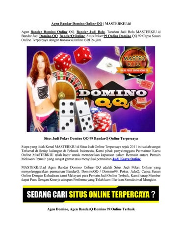 Agen Bandar Domino Online Qq Masterkiu Id By Zen Pierestan Issuu