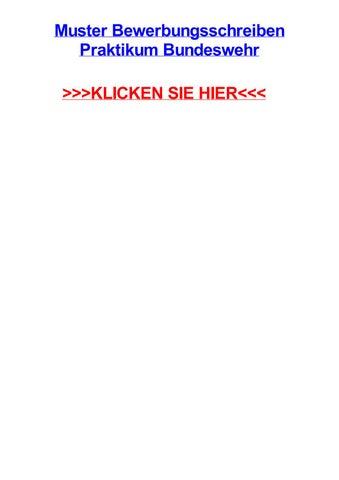 Muster Bewerbungsschreiben Praktikum Bundeswehr By
