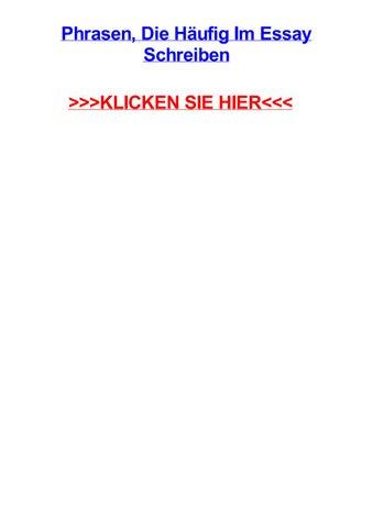 Phrasen Die Hufig Im Essay Schreiben By Angieomqd Issuu
