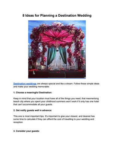 614b2b750 Ideas for planning a destination wedding by BTS Udaipur - issuu