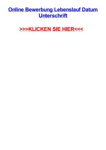 Online Bewerbung Lebenslauf Datum Unterschrift By Kellismrtp Issuu