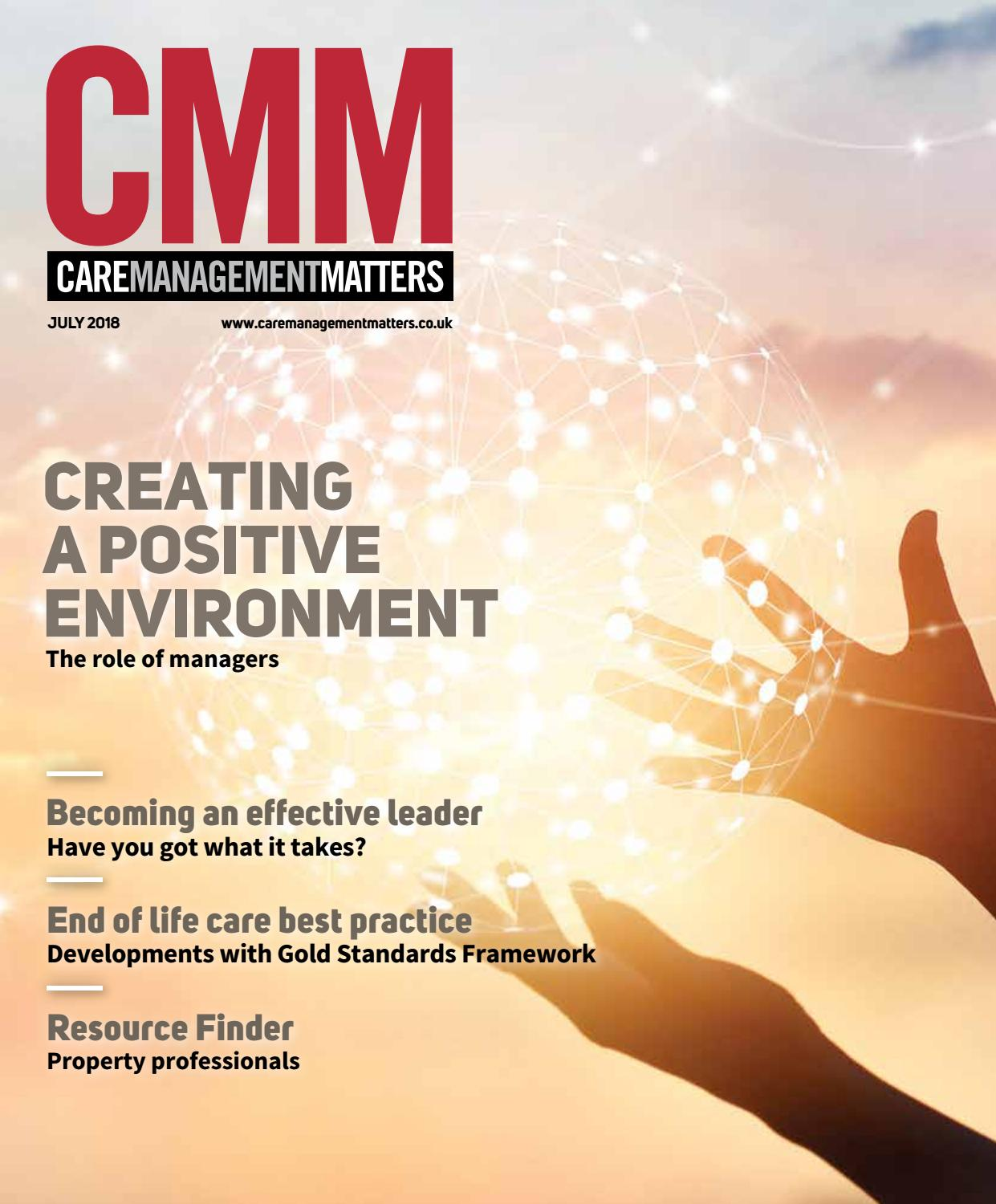 Care Management Matters July/August 2018 by Care Choices Ltd