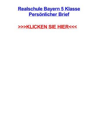 Realschule Bayern 5 Klasse Persnlicher Brief By Jeremyulkl Issuu