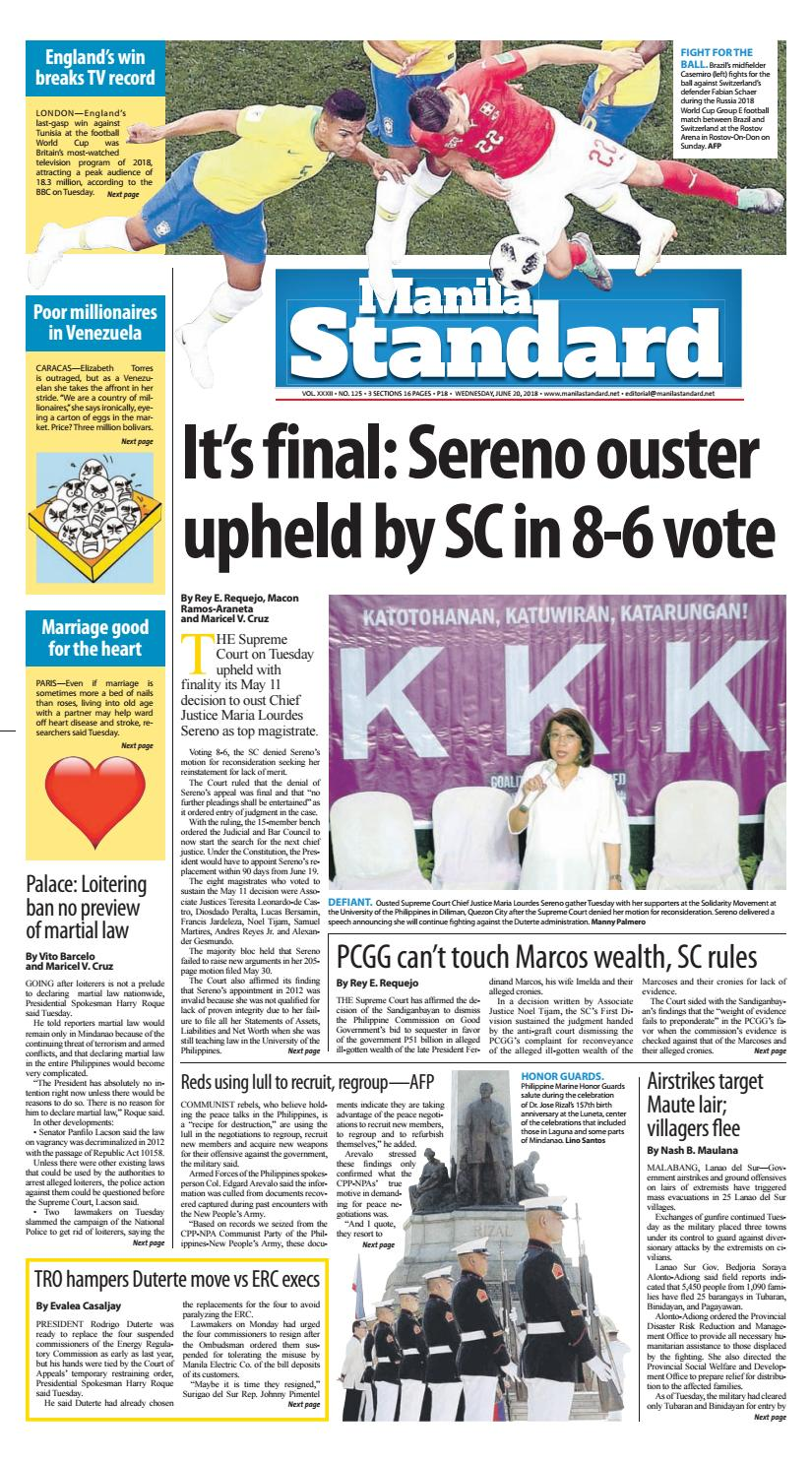9a709e40db Manila Standard - 2018 June 20 - Wednesday by Manila Standard - issuu