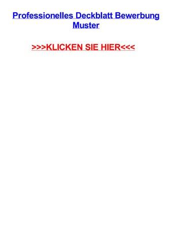 Professionelles Deckblatt Bewerbung Muster By Tomnsost Issuu