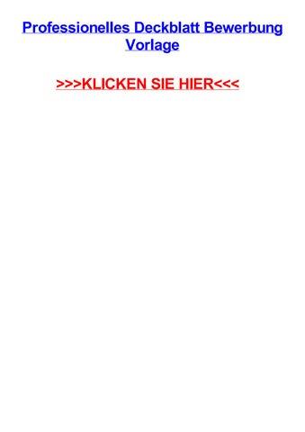 Professionelles Deckblatt Bewerbung Vorlage By Ericuham Issuu
